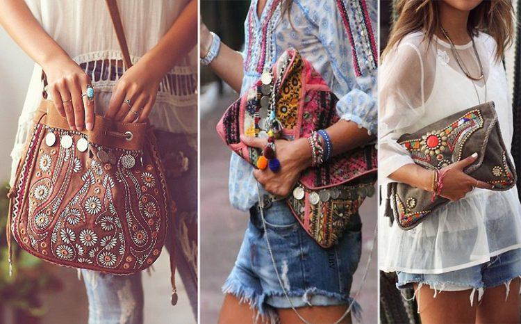 Chicas luciendo bolsos boho chic