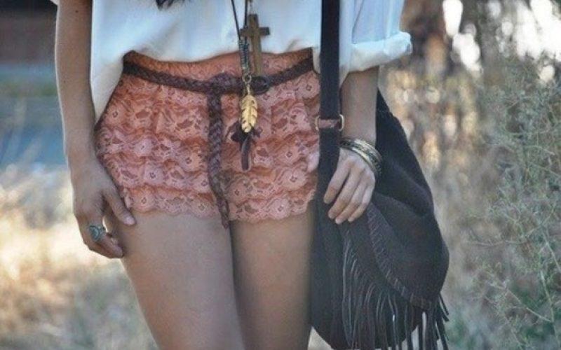 pantalones cortos boho chic 7