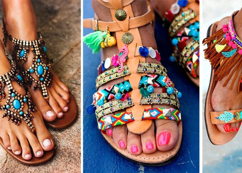 Las sandalias son el calzado que marca el ritmo del 2017