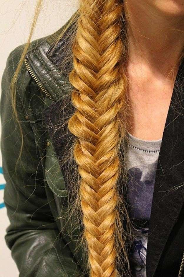 Trenzas de espigas para cabello largo