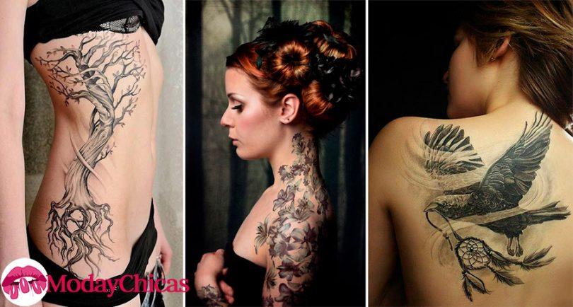 Mujeres con tatuajes increíbles en su cuerpo