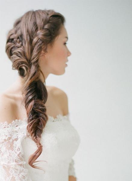 trenzas en cascada un peinado para la novia ideal