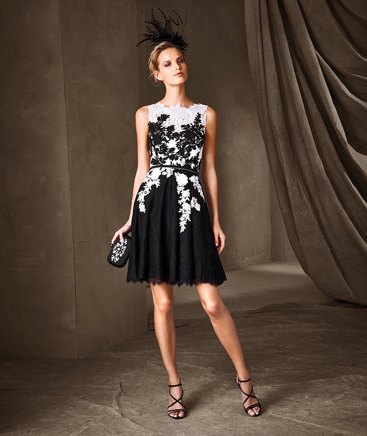 Pronovias para invitadas vestido floreado