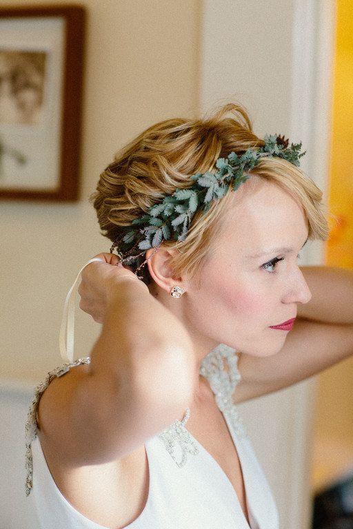 Peinados para novias con pelo corto y estilo pixie