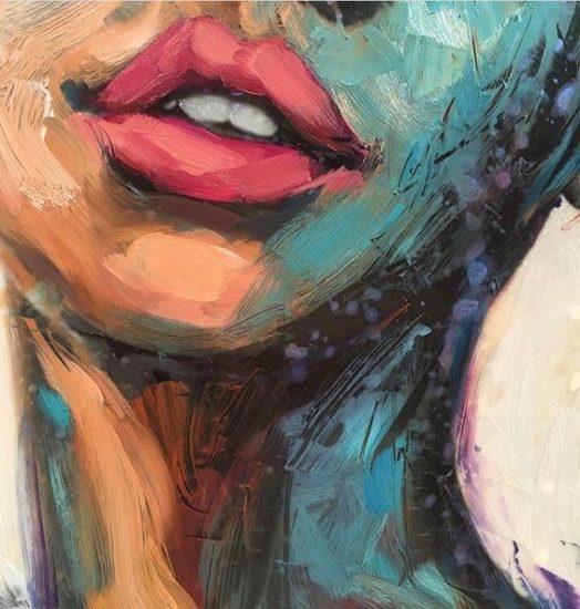 retrato de unos labios gruesos