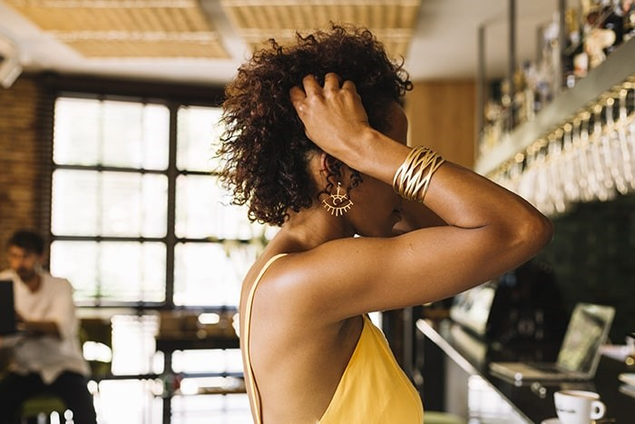 Peinado de afro