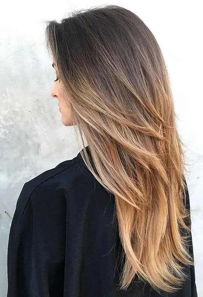 Cortes de cabello en capas para cabello largo