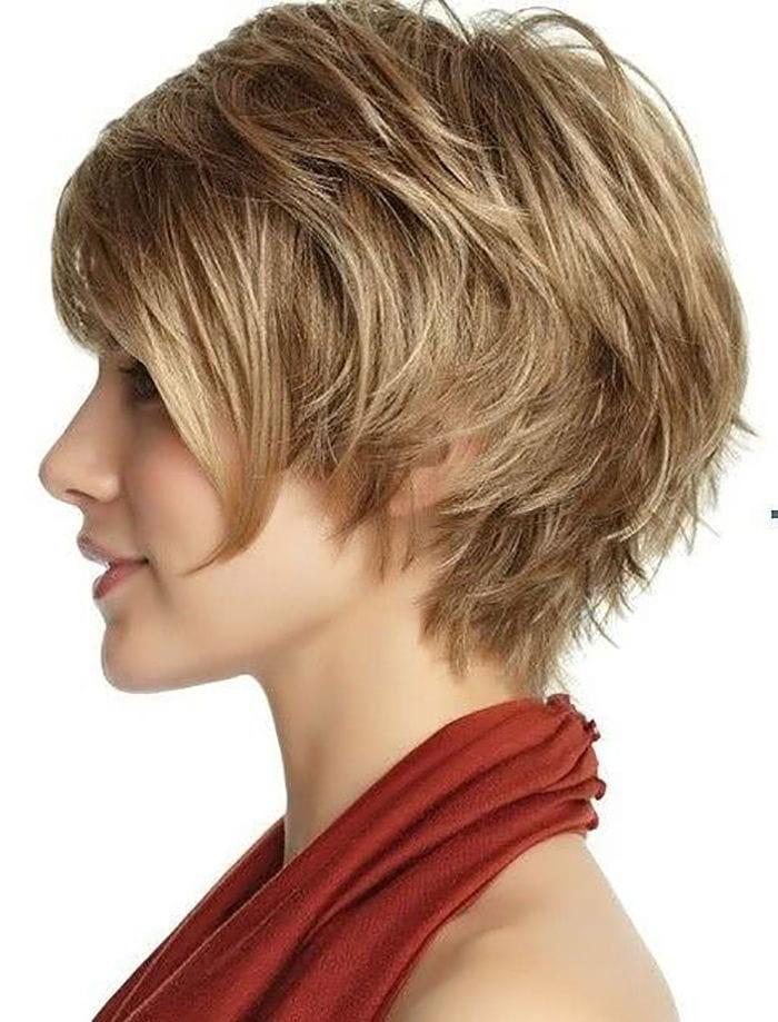 Cortes de cabello en capas cortas