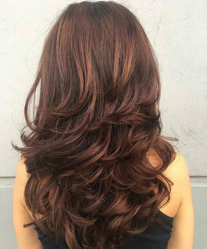 Corte cabello mujer escalonado
