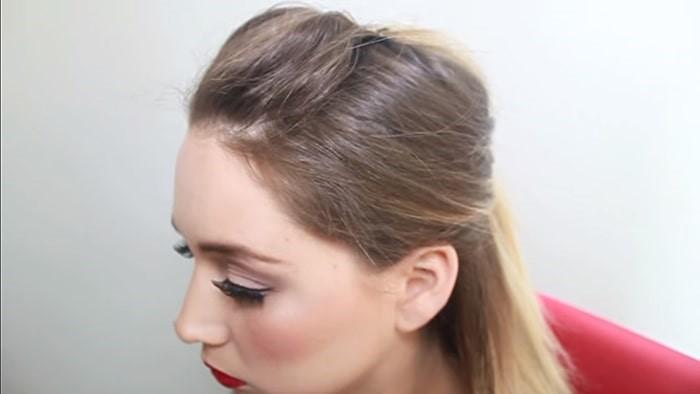 Peinado fácil con crepé y bump