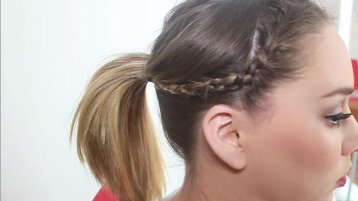Peinado fácil de cola y trenza