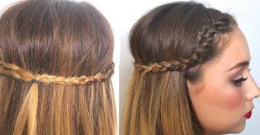 Peinado fácil de trenzas unidas
