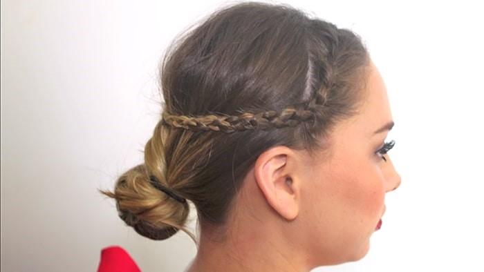 Peinado sencillo trenzas y moño