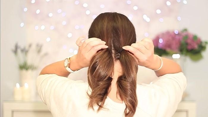 Comienzo de peinado simple para un día lunes