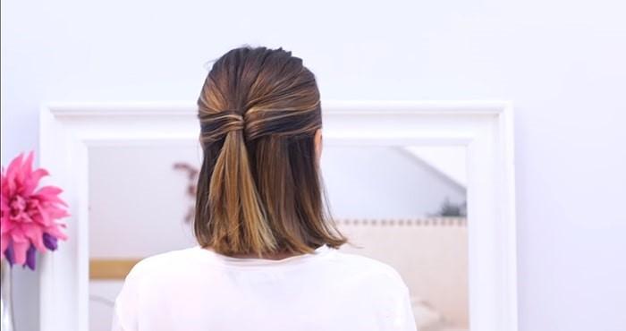 Peinado semi recogido con coleta