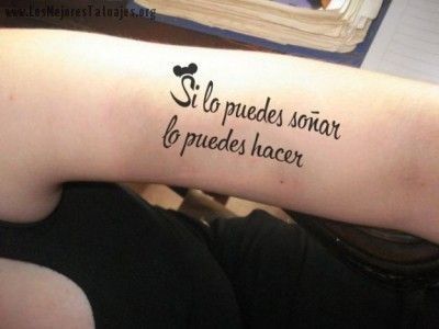 Frases para tatuaje walt disney