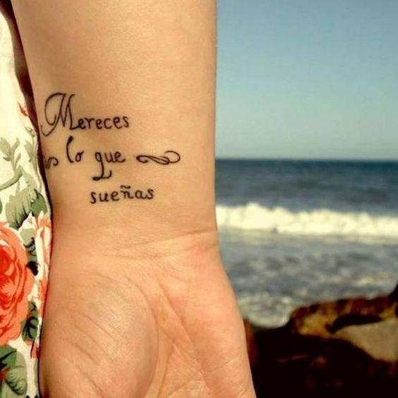 Frases para tatuaje soñar