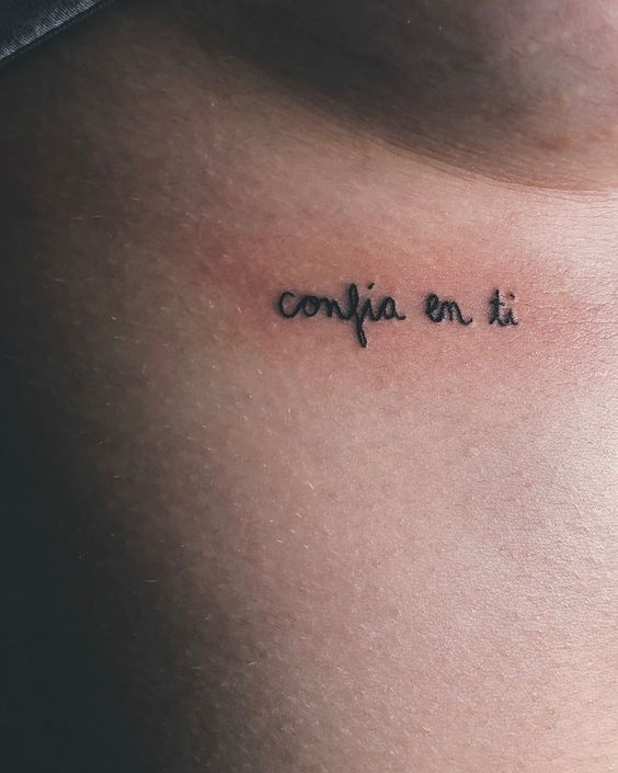 Tatuajes frase simple