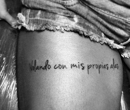Frases para tatuaje en la pierna